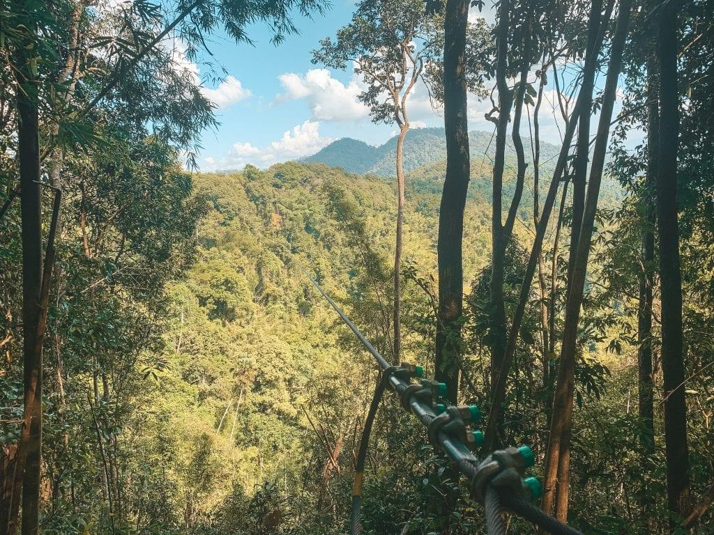 Ziplinen Azië Laos.
