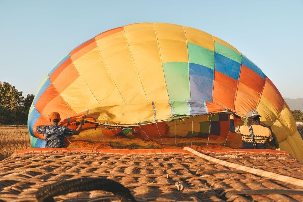 Daling luchtballon.