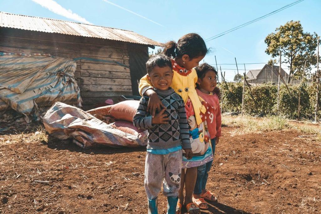 Kinderen Vietnam Dalat.