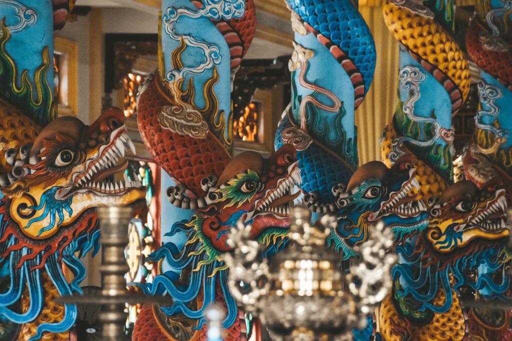 Cao Dai tempel Mekong Delta.