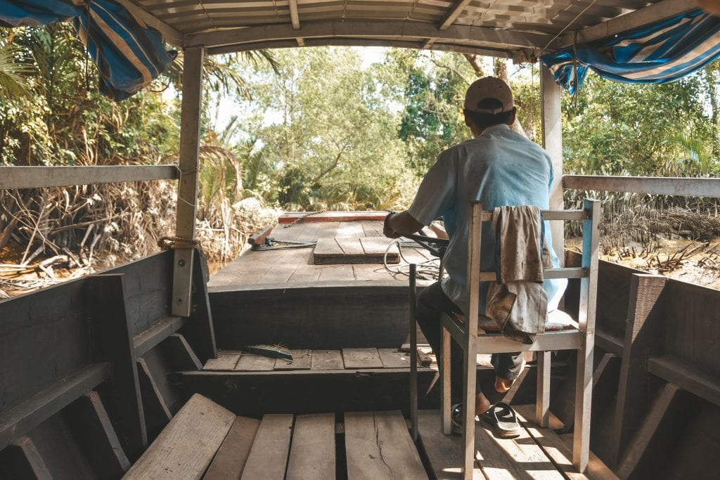 Bootje Mekong Delta.