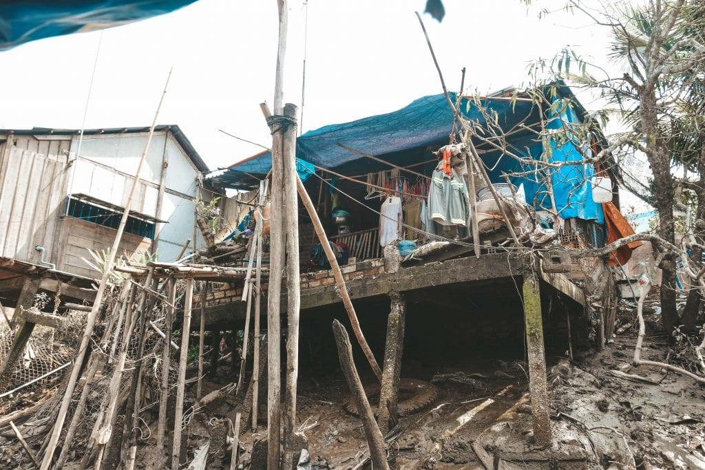 Lokale dorpen in de Mekong Delta.