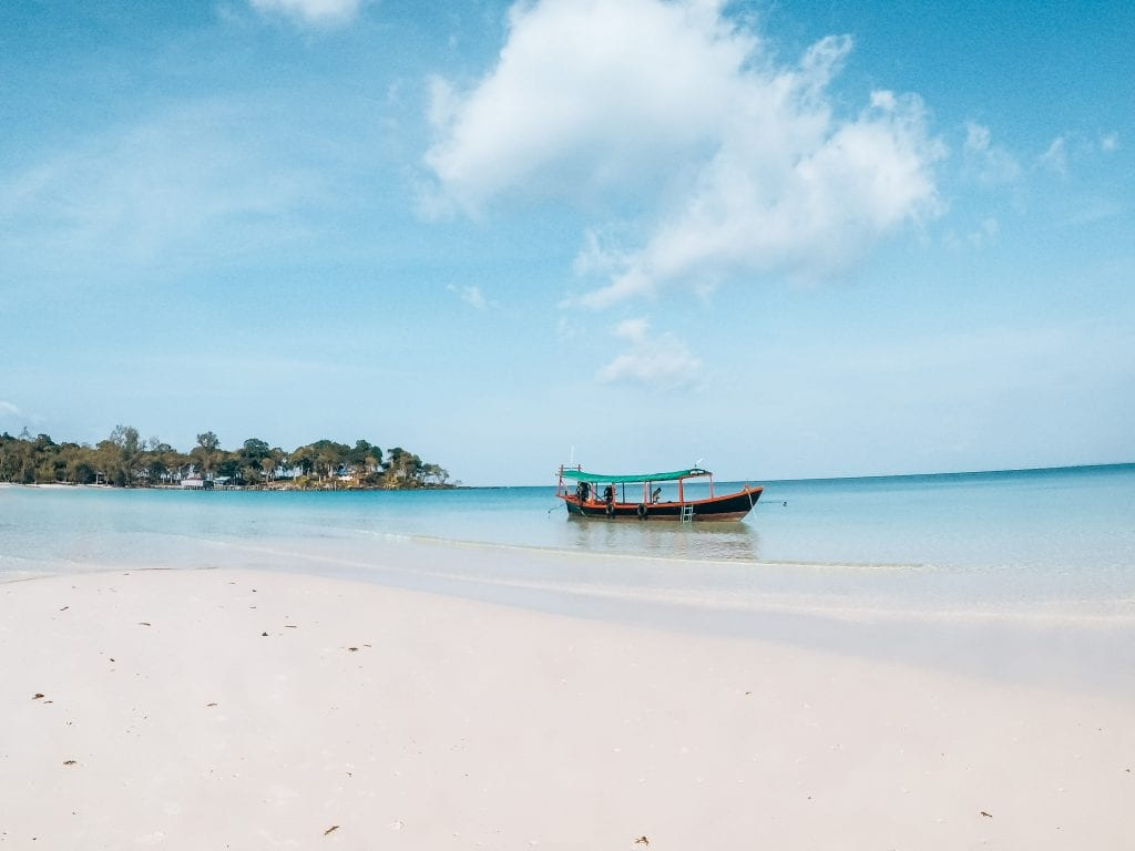 Sandy Beach, Cambodja.