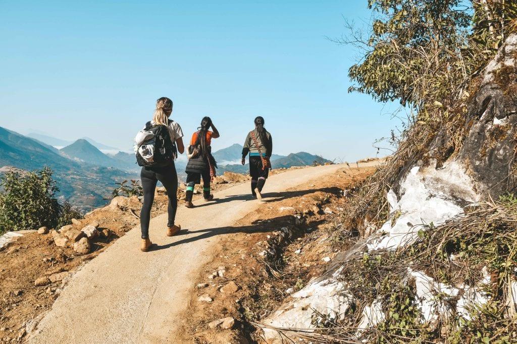 Hike door de omgeving van Sapa.