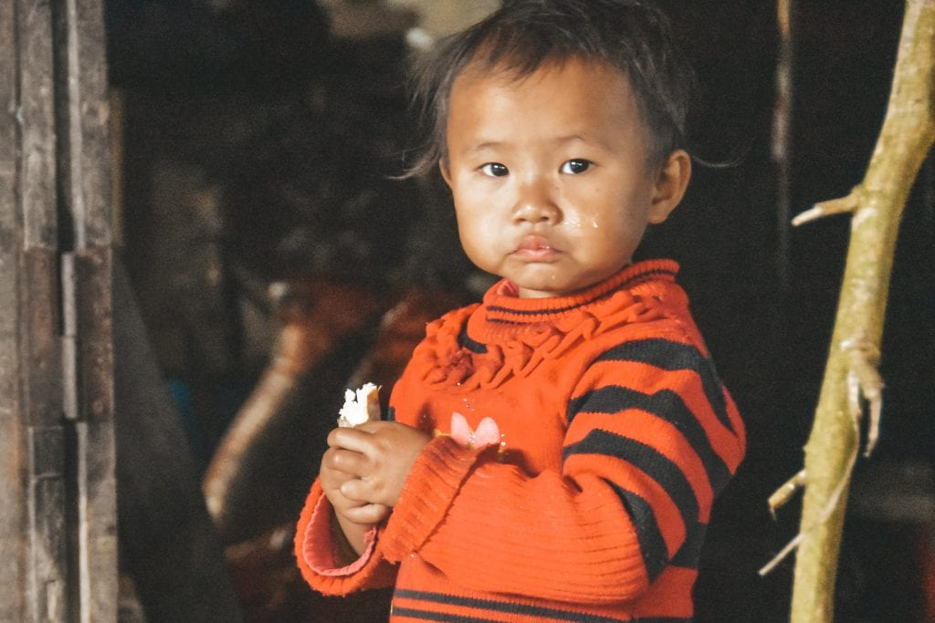 Kindje in Vietnam.