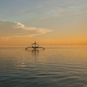 Siquijor zonsondergang Paliton Beach.