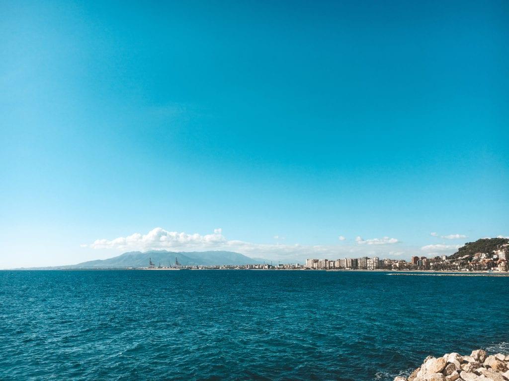 Malaga stranden.