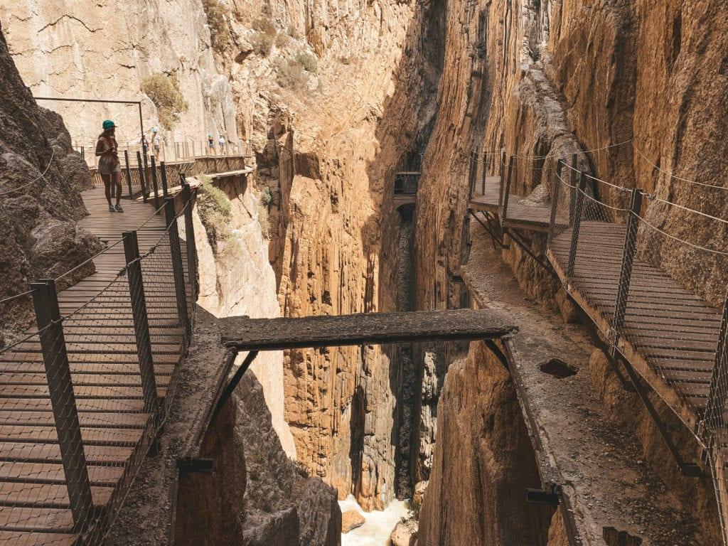 Het oude pad van Caminito del Rey.