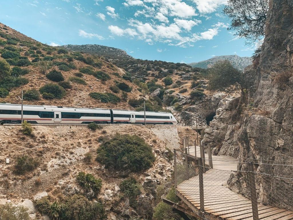 Trein van Malaga naar Caminito Del Rey