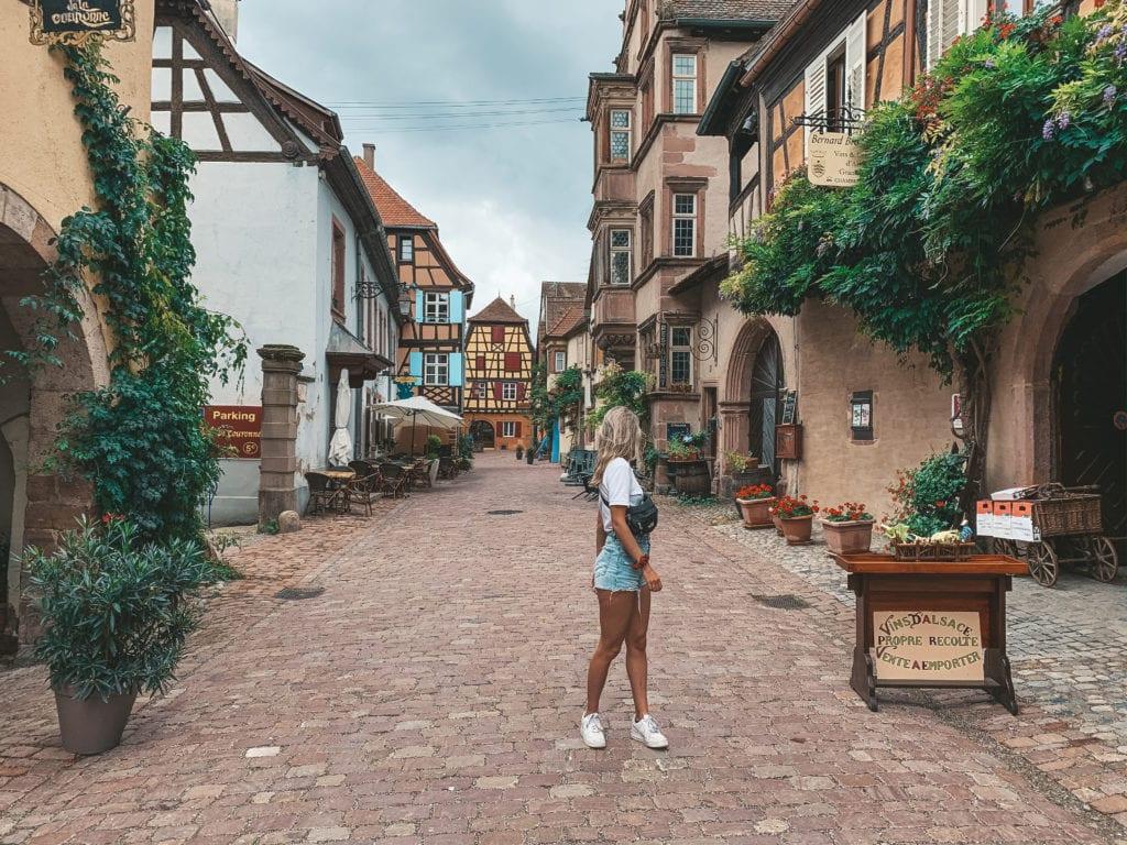 Vins d'Alsace route.